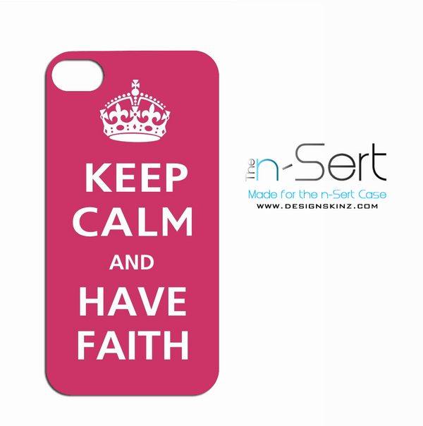 "Pink ""Keep Calm & Have Faith"" n-Sert"
