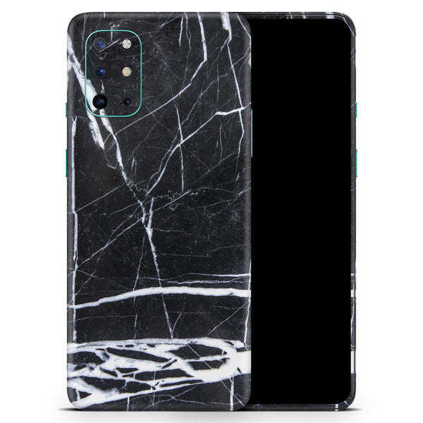 Natural Black & White Marble Stone - Full Body Skin Decal Wrap Kit for OnePlus Phones