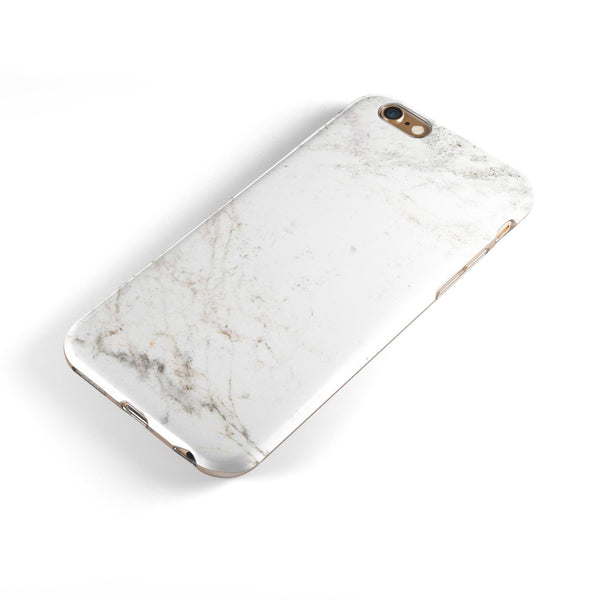 Natural White Marble Surface iPhone 6/6s or 6/6s Plus 2-Piece Hybrid INK-Fuzed Case