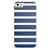 Navy Blue and White Horizontal Stripes iPhone 5/5s or SE INK-Fuzed Case
