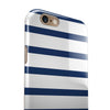 Navy Blue and White Stripes iPhone 6/6s or 6/6s Plus 2-Piece Hybrid INK-Fuzed Case