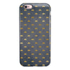 Navy Gold Foil v12 iPhone 6/6s or 6/6s Plus 2-Piece Hybrid INK-Fuzed Case