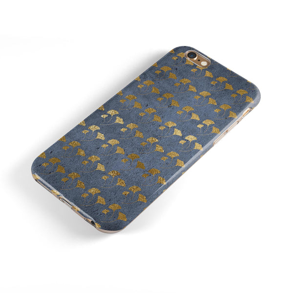 Navy Gold Foil v13 iPhone 6/6s or 6/6s Plus 2-Piece Hybrid INK-Fuzed Case