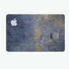 Navy Gold Foil v6 - Premium Protective Decal Skin-Kit for the Apple Credit Card