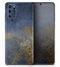 Navy Gold Foil v6 - Skin-Kit for the Samsung Galaxy S-Series S20, S20 Plus, S20 Ultra , S10 & others (All Galaxy Devices Available)