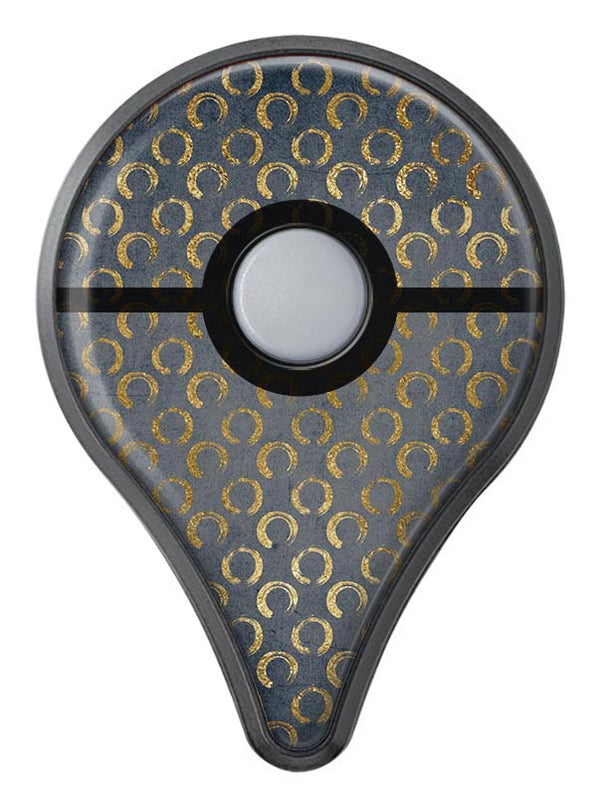 Navy Gold Foil v8 Pokémon GO Plus Vinyl Protective Decal Skin Kit