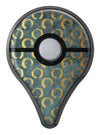 Navy Gold Foil v9 Pokémon GO Plus Vinyl Protective Decal Skin Kit