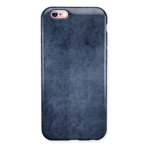 Navy Grunge Texture v1 iPhone 6/6s or 6/6s Plus 2-Piece Hybrid INK-Fuzed Case
