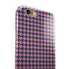 Navy and Coral Houndstooth Pattern iPhone 6/6s or 6/6s Plus 2-Piece Hybrid INK-Fuzed Case