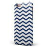 Navy and White Chevron Stripes iPhone 6/6s or 6/6s Plus 2-Piece Hybrid INK-Fuzed Case