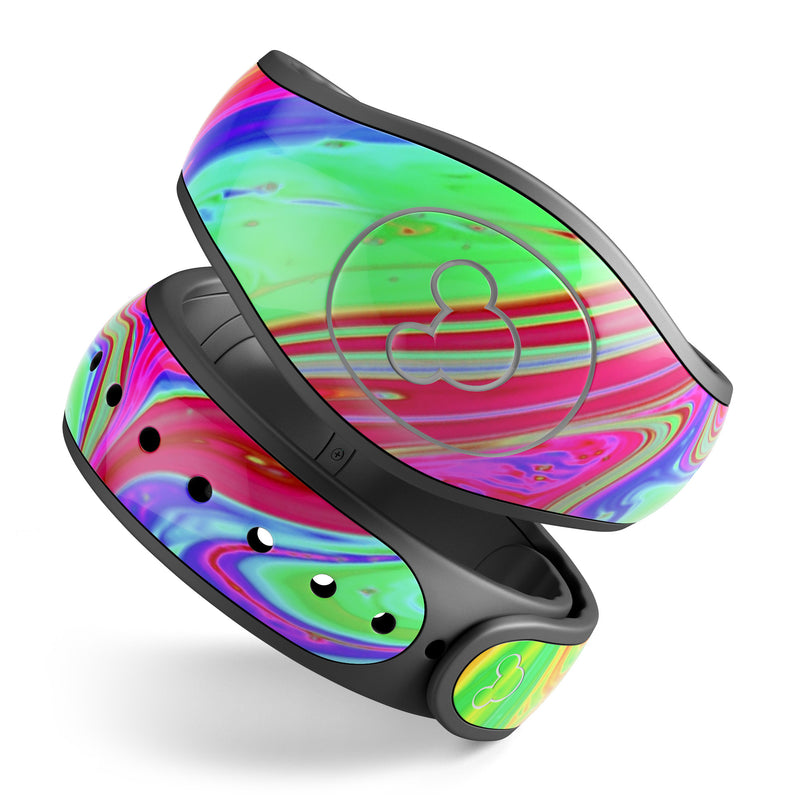 Neon Color Fusion V8 - Decal Skin Wrap Kit for the Disney Magic Band
