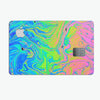 Neon Color Swirls - Premium Protective Decal Skin-Kit for the Apple Credit Card