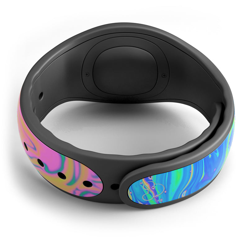 Neon Color Swirls - Decal Skin Wrap Kit for the Disney Magic Band