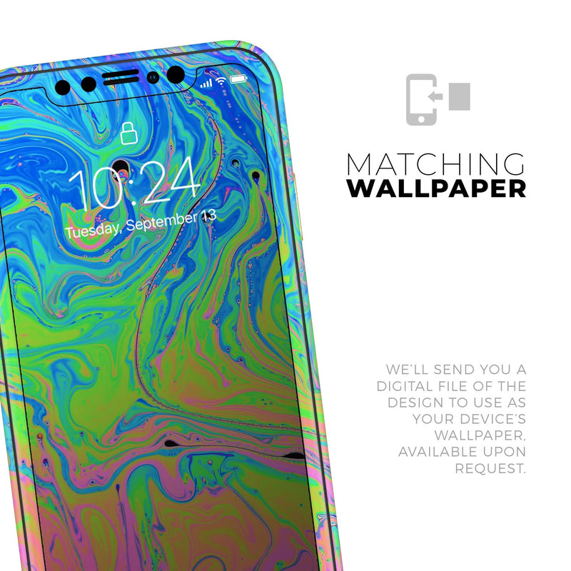 Neon Color Swirls - Skin-Kit for the Apple iPhone 11, 11 Pro or 11 Pro Max