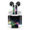 Neon Motion Lights - Full Body Skin Decal Wrap Kit for the Wireless Bluetooth Apple Airpods Pro, AirPods Gen 1 or Gen 2 with Wireless Charging