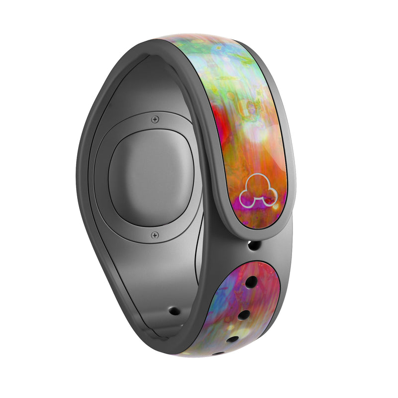 Neon Paint Mixtured Surface - Decal Skin Wrap Kit for the Disney Magic Band