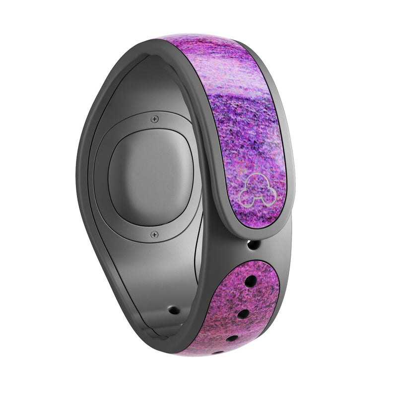 Neon Pink Dyed Wood Grain - Decal Skin Wrap Kit for the Disney Magic Band