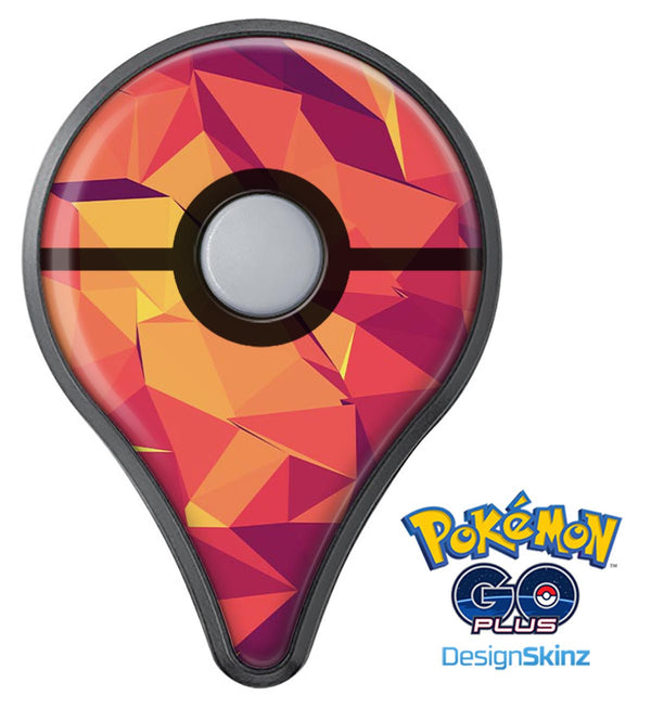Neon Pink and Orange Geometric Shapes Pokémon GO Plus Vinyl Protective Decal Skin Kit