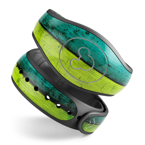 Neon Wood Planks - Decal Skin Wrap Kit for the Disney Magic Band