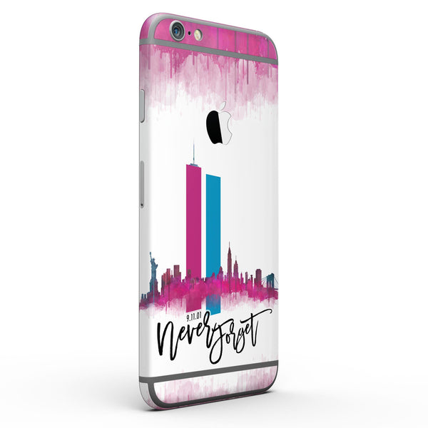Never Forget 9/11 V2 - Six-Piece Skin Kit for the iPhone 6/6s or 6/6s Plus