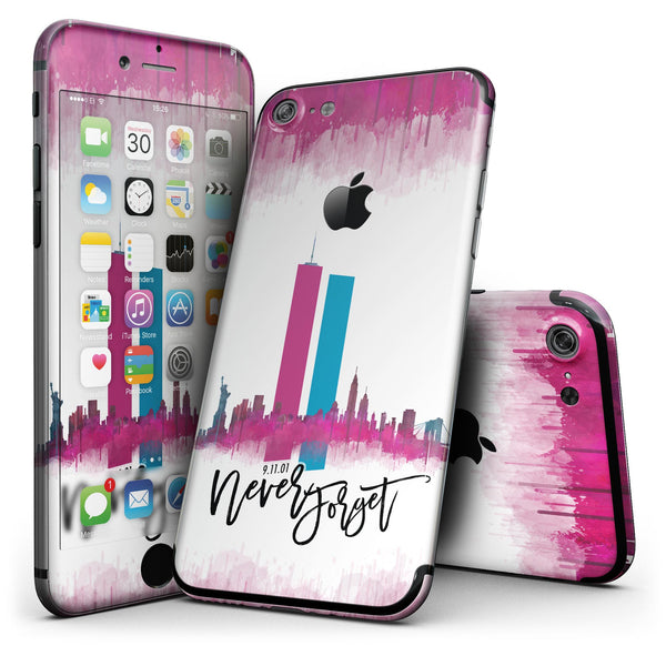 Never Forget 9/11 v2 - 4-Piece Skin Kit for the iPhone 7 or 7 Plus