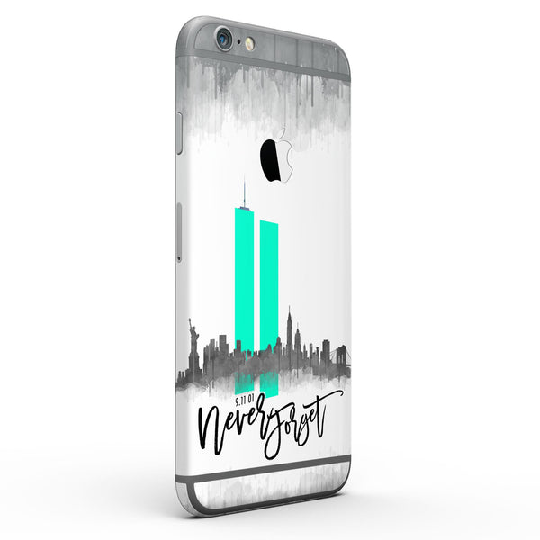 Never Forget 9/11 V4 - Six-Piece Skin Kit for the iPhone 6/6s or 6/6s Plus