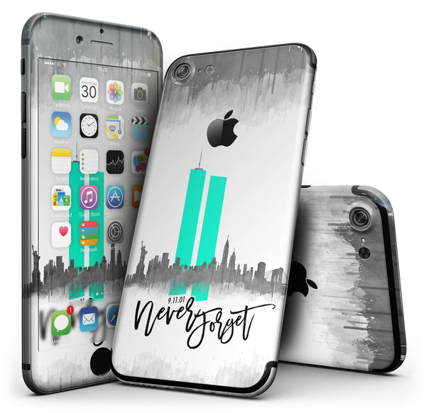 Never Forget 9/11 v4 - 4-Piece Skin Kit for the iPhone 7 or 7 Plus
