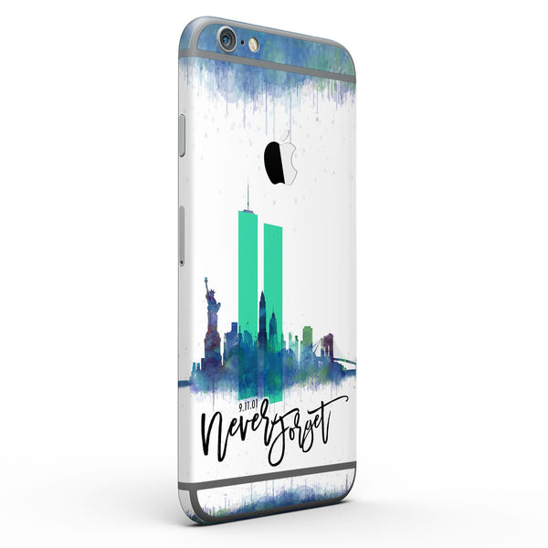 Never Forget 9/11 V5 - Six-Piece Skin Kit for the iPhone 6/6s or 6/6s Plus