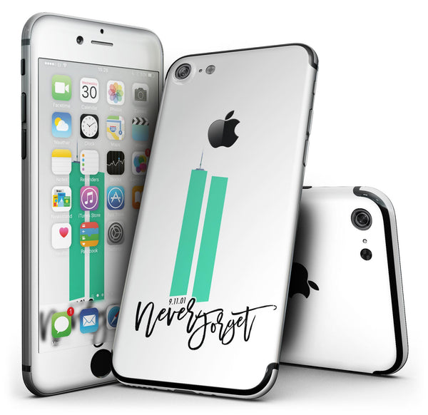 Never Forget 9/11 v7 - 4-Piece Skin Kit for the iPhone 7 or 7 Plus