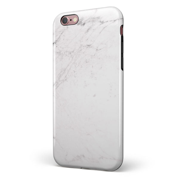 Nuetral Gray and White Marble Surface iPhone 6/6s or 6/6s Plus 2-Piece Hybrid INK-Fuzed Case