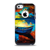 Oil Pastel of Boat on the Shore Skin for the iPhone 5c OtterBox Commuter Case
