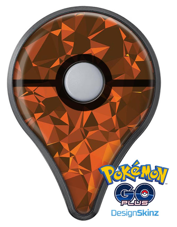 Orange Abstract Geometric Triangles Pokémon GO Plus Vinyl Protective Decal Skin Kit