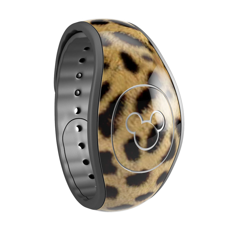 Orange Cheetah Fur Pattern - Decal Skin Wrap Kit for the Disney Magic Band