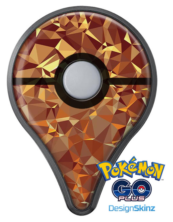 Orange Geometric V5 Pokémon GO Plus Vinyl Protective Decal Skin Kit