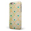 Orange Semicricles of Teal Polka Dots iPhone 6/6s or 6/6s Plus 2-Piece Hybrid INK-Fuzed Case
