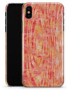 Orange Watercolor Woodgrain - iPhone X Clipit Case