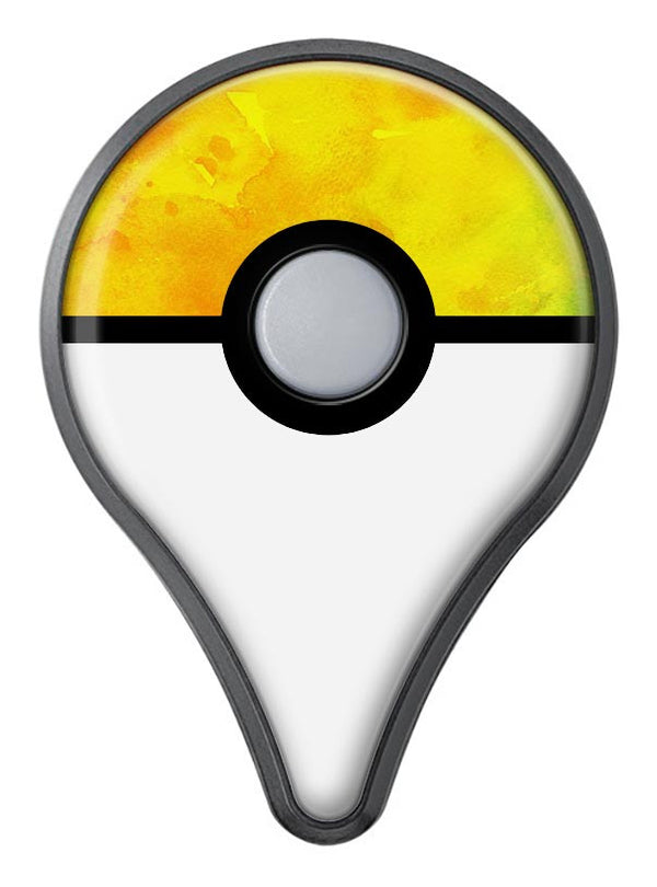 Orange v2 Absorbed Watercolor Texture Pokémon GO Plus Vinyl Protective Decal Skin Kit