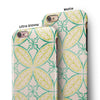 Oversized Green and Yellow Overlapping Circles iPhone 6/6s or 6/6s Plus 2-Piece Hybrid INK-Fuzed Case