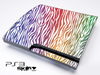 Colorful Zebra Skin for the Playstation 3
