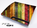 Vintage Neon Striped Wood Skin for the Playstation 3