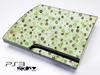 Vintage Green Starz and Circles Skin for the Playstation 3
