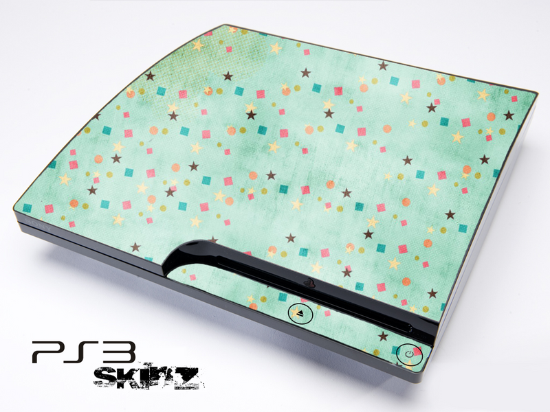 Green Vintage Pattern Skin for the Playstation 3