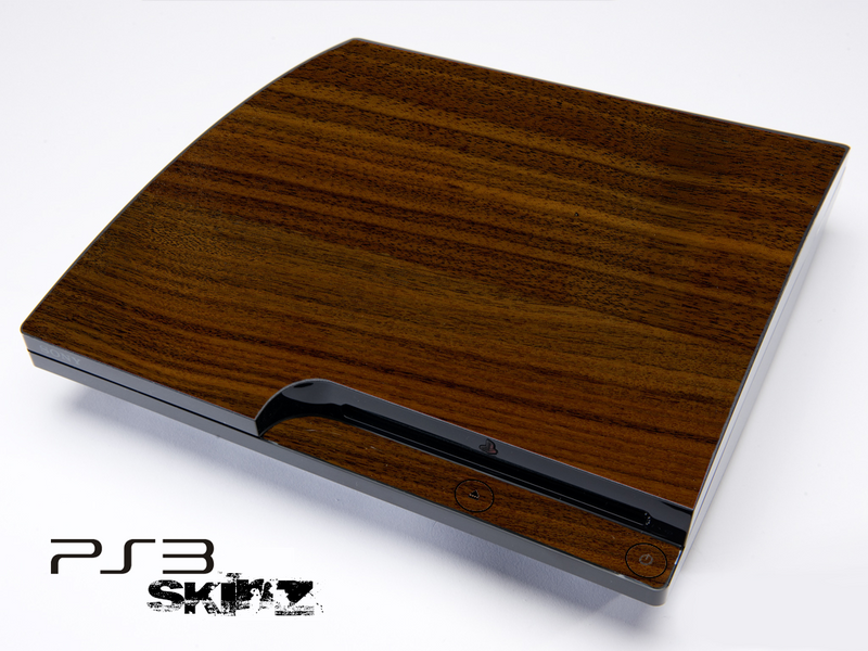 Walnut Wood Skin for the Playstation 3