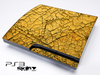 Cracked Yellow Skin for the Playstation 3