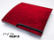 Red Leather Print Skin for the Playstation 3