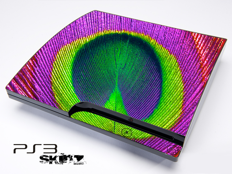 Neon Peacock Skin for the Playstation 3