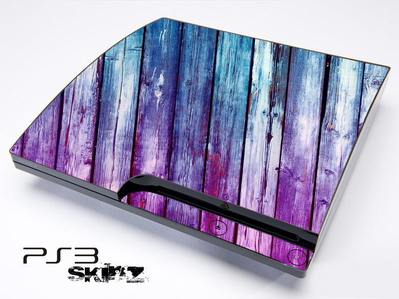 Pink & Blue Dyed Wood Skin for the Playstation 3