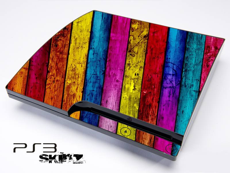 Neon Color Wood Skin for the Playstation 3