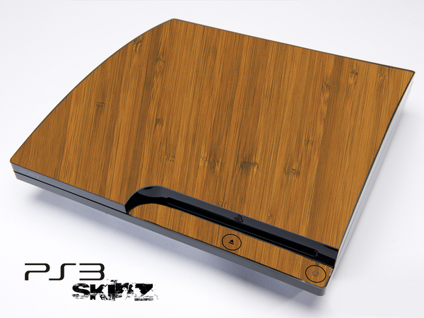 Bamboo skin for the Playstation 3