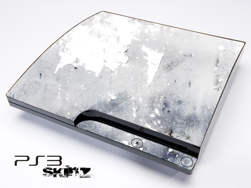 White Grunge Skin for the Playstation 3